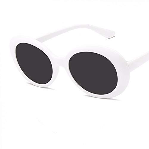 CHENG/ CHENG Sonnebrille Frauen-Ovale Sonnenbrille-Weiße Sonnenbrille Männer Weinlese-Retro- Weibliche Männliche Gläser