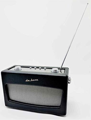 Retro Radio de Luxe (analog) in Leder-Optik, Kopfhöreranschluß, Batterie-/ Netzbetrieb