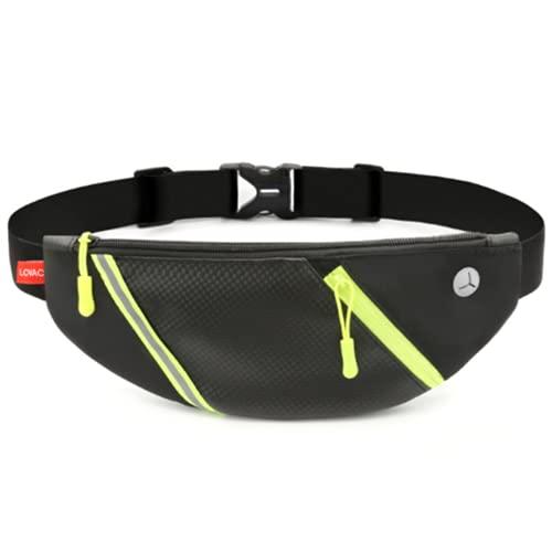 GLYHVXZ Riñoneras Bolsas para Deportes Al Aire Libre Cinturón Antirrobo para Correr, Hombres Y Mujeres, Bolsos Tácticos Invisibles para Correr, Impermeables,A