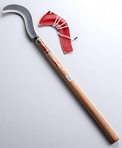 OJIKA Scythe Long Handle Double-Edged Aogami Steel Blade Forestry Japan Tools 31.9inch