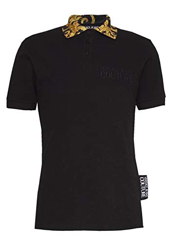 VERSACE JEANS COUTURE heren barokke kraag Polo Shirt