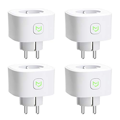 Enchufes Inteligentes 16A 3680W, Compatible con Alexa, Google Assistant y SmartThings, Wi-Fi Smart Plug, con Control Remoto Meross app (4 Pack)