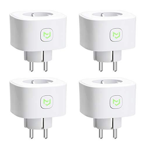 Enchufes Inteligentes, Smart Plug 16A 3680W, Compatible con Alexa, Google Assistant e IFTTT, con Control Remoto (4 Pack)