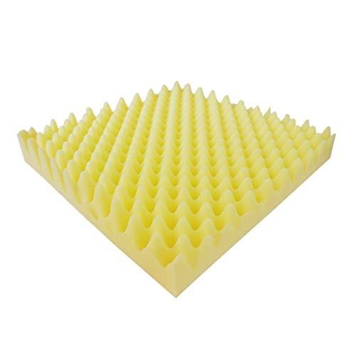 Baby kamer Geel/zwart Studio Strijkijzer Wall Panel Tegels Geluidsisolatie, Pro Acoustic Foam Pyramid Tegels 50 * 50 * 7,5 cm Geschikt voor deurpanelen (Color : Yellow)