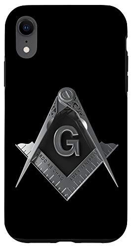 iPhone XR Masonic Mobile Case Freemason Square & Compass Case
