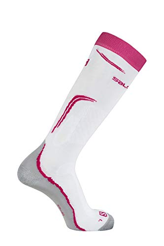 Salomon 1 Paar Mitteldicke Unisex-Socken, X Pro, weiß/pink (pink Yarrow), Größe S (36-38), LC1019500