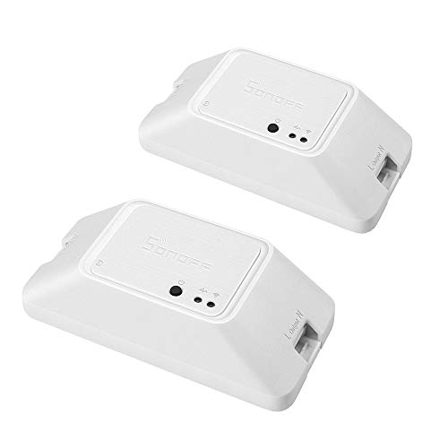 (2 Stück) SONOFF Basic R3 DIY WiFi Smart Remote Control Kompatibel mit Alexa Google Home Nest