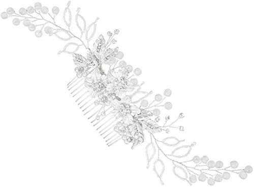 Hochzeit Haarkamm Faux Perle Kristall Braut Haar Seite Kamm Clips Kopfschmuck Haarstück Zubehör Für Frauen Braut