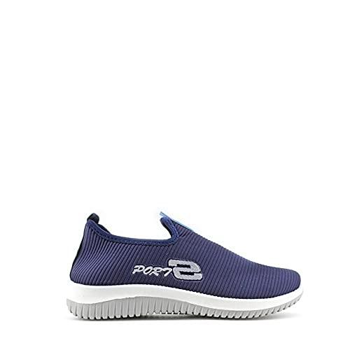 Modelisa - Zapatillas Deportivas Sin Cordones Planos Cómodo Casual para Mujer (Navy, Numeric_40)