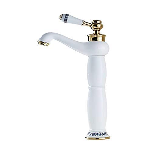 Beksleutel wit, koper, warm en koud, alleen boring, blauw en wit, badkamerkast van porselein, retro-opening van 32 mm tot 35 mm, kan worden geïnstalleerd.