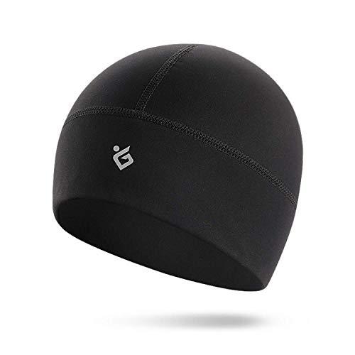 Sweetone Skull Cap/Helmfutter/Running Beanie Hat, warmer winddichter Feuchtigkeitstransport, passt unter Helme/Schutzhelme, perfekt zum Laufen Radfahren MTB & Outdoor Sports Schwarz