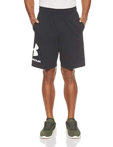 Under Armour Under Armour Herren Sportstyle Cotton Logo Shorts ultraleichte und atmungsaktive kurze Hose, komfortable Sportshorts mit loser Passform, Schwarz, X-Large