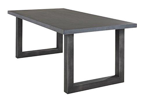 Home4You Esstisch Küchentisch Esszimmertisch | 180x100 cm | MDF | Betonbeschichtung | Schwarz
