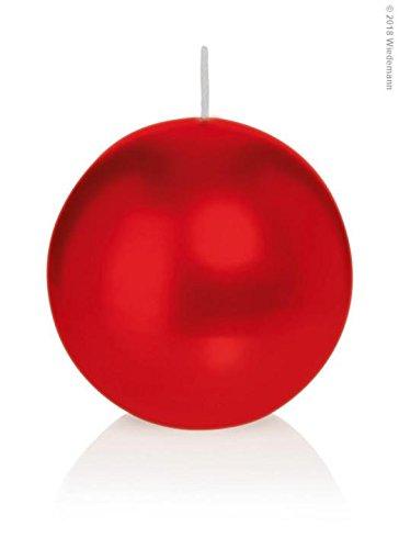 Wiedemann Kugelkerzen, Wachs, Rot, 4.5 x 4.5 cm, 12-Einheiten