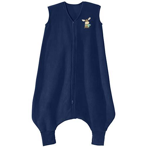 HALO Big Kids Sleepsack Micro Fleece Wearable Blanket, TOG 1.0, Blue Moose, 2T-3T