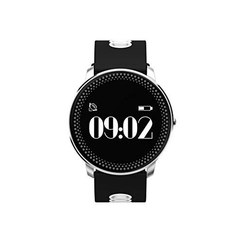 """JIEGEGE Intelligentes Armband, Herzfrequenz-Blutdruck-Wettervorhersage Erinnern Fitness-Armband Smart Watch, 0,95\""""OLED-Bildschirm, Alltag Wasserdicht, Für Android ISO"""