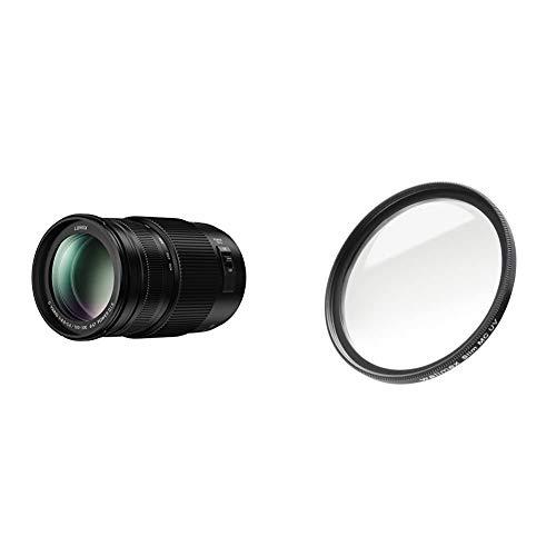 Panasonic H-FSA100300E Lumix G Vario 100-300 mm/ F4.0-5.6 II/O.I.S. schwarz & Walimex Pro UV-Filter Slim MC 67 mm (inkl. Schutzhülle)