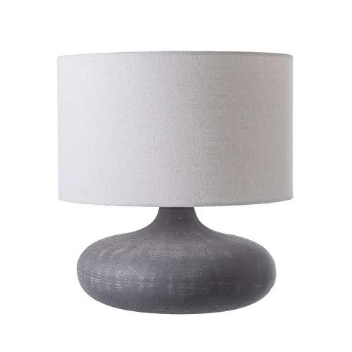 LUSSIOL 233918 Tisch- und Nachttischlampe, Beton Fiberstone, Grau