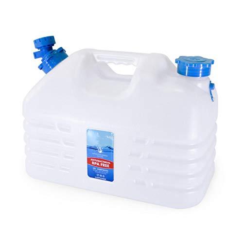 qianele Recipiente de Agua al Aire Libre Tanque de Agua Almacenamiento de Agua con Grifo Cubo de Almacenamiento portátil Cantimplora de Agua Jarra Garrafa con Tubo de Agua y Tapa para Acampar ⭐