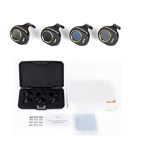 YXYX Accessori droni 3/4 / 6pcs / Set per D&Ji per Film di Rivestimento Multi-Strato Spark MCUV/CPL / ND4 ND8 ND16 ND32 Lente del Kit Filtro. HD Cancella Protezione per Lenti della Fotocamera