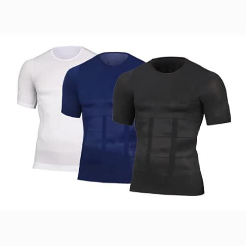 2021 Men's Shaper Slimming Compression T-Shirt, Gym Workout T Shirts (XL,All)
