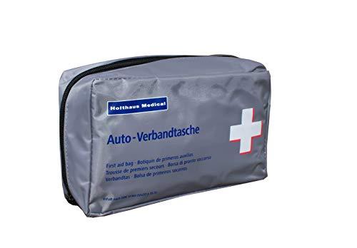 Kfz-Verbandtasche Auto Verbandkasten mit Malteser Anwendungsbroschüre DIN 13164 grau
