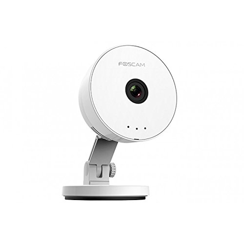 Foscam C1 Lite - Cámara IP inalámbrica, Cámara de vigilancia HD, Lente 1 MP 115 °, resolución 720p, Color Blanco