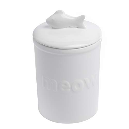 Find Discount Park Life Designs Felix Treat Jar, Stylish 46 oz Heavyweight Ceramic Treat Container, ...