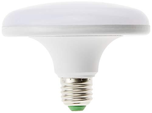 Jandei – Lampadina LED UFO, attacco E27, UFO, 18 W, 1800 lumen (= 150 W), luce bianca fredda 6000 K, rotonda, piatta,