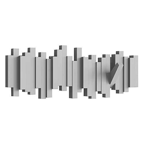 GANG Perchero Creativo Perchero de Pared Perchero de Pared Perchero de Puerta Gancho de Decoración de Llaves Perchero Multifuncional para Dormitorio Fácil de instalar/Gris