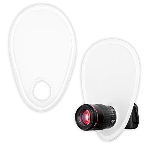 2Pcs Tragbar Blitzdiffusor Kamera Blitz Diffusor Faltbar Blitz Diffusor Reflektor Kit Kamera licht-Reflektor mit Aufbewahrungstasche für DSLR-Kameraobjektive
