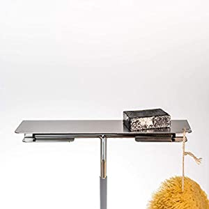 Duschablage PRI aus Edelstahl matt gebürstet für Dusche und Bad mit integriertem Halter für einen Duschabzieher…