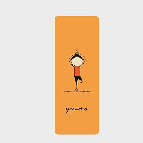 La esterilla de Yoga de Goma de Gamuza Antideslizante de 183 cm x 68 cm Plegable de 1,5 mm / 4 mm Tiene Una Gran Resistencia Al Desgarro y Agarre. Es Una Opción Ideal Para Los Practicantes de Yoga.