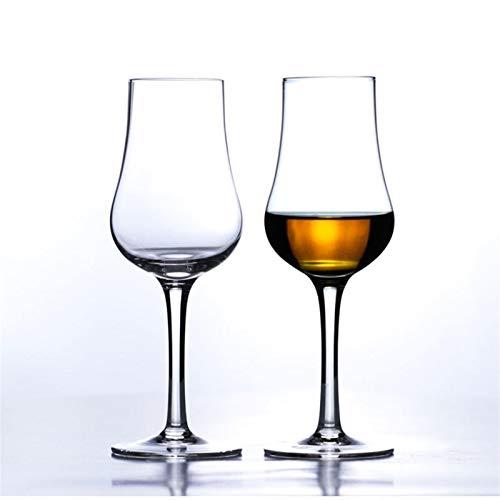 QSCTYG Copa De Vino El Sabor del Whisky escocés de Cristal Copa de Vino Vaso de coñac Neat catador del Vino Mejor Regalo Beber 71 (Color : 2 Pcs, Size : 140ml)