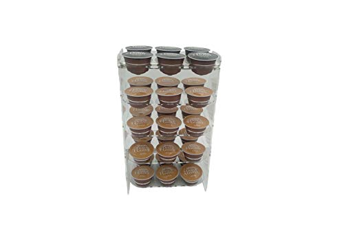 Laserplast Soporte cápsulas café Dolce Gusto de metacrilato - 30 cápsulas en 5 estantes - Dispensador Porta cápsulas transparente