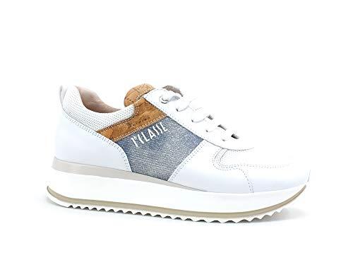 ALVIERO Martini 1A CLASSE Sneaker Running Geo Glitter White Jeans N0616-0929 40