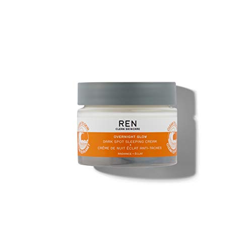 REN Clean Skincare Dark Spot Removal Overnight Cream - Proven to Reduce Hyperpigmentation with Natural Algae and Phytoglycogen - Cruelty Free & Vegan Hydrating Facial Moisturizer, 1.7 Fl Oz