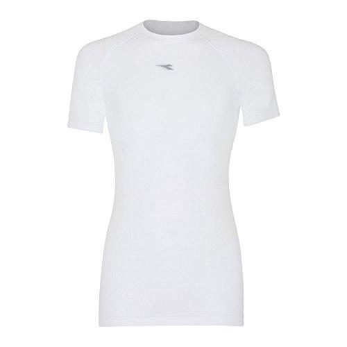 Diadora Sport da Uomo 102171187SS Act t-Shirt, Uomo, 102171187, Bianco Ottico, Piccola/Media