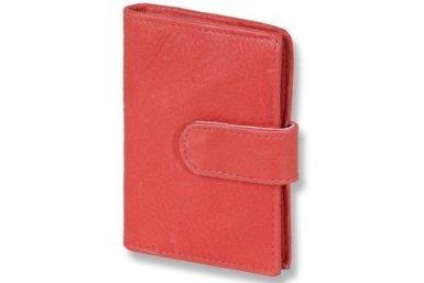 Ledershop24 XXL 23 Fächer Kreditkartenetui Kartenetui Visitenkartenetui Rot Leder