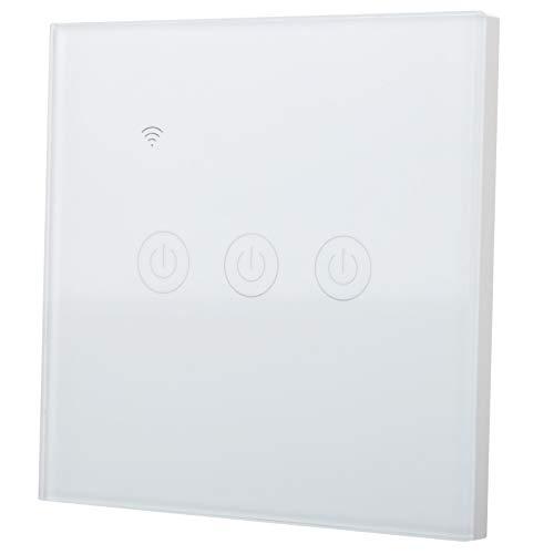 Interruptor WiFi de Control Remoto, Interruptor inalámbrico a Prueba de Impactos de PC ABS de Alto Rendimiento Blanco, para Sala de Estar, Dormitorio, baño, balcón