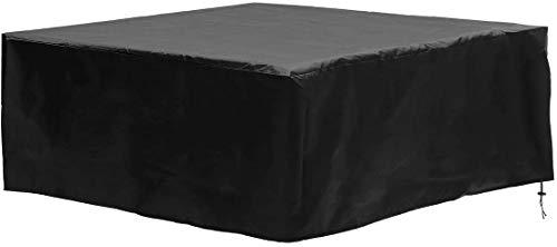 dDanke Housse rectangulaire en polyester 600D imperméable pour meubles d'extérieur 10 places 350 x 260 x 90 cm Noir