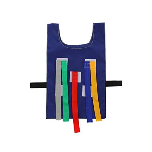 Yeahibaby Jouets d'extérieur pour enfants Tirer la queue avec le gilet gilet Jeux de plein air, équipement de jardin d'enfants Jouets éducatifs Sports pour enfants (vêtements bleus, tirette)