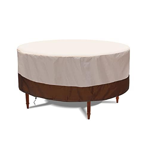 Aceshop Cubierta redonda para mesa de jardín, resistente al agua, tela Oxford, resistente al viento, anti UV, para muebles de patio, 188 x 84 cm