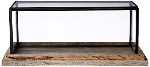 Better & Best 1363074 Urna cristal rectangular baja base madera de madera...