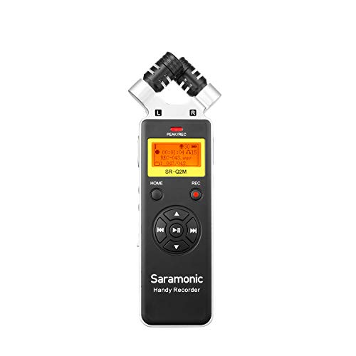 Saramonic SR-Q2M Metall-Handheld-Audiorecorder mit integriertem X/Y-Stereomikrofon