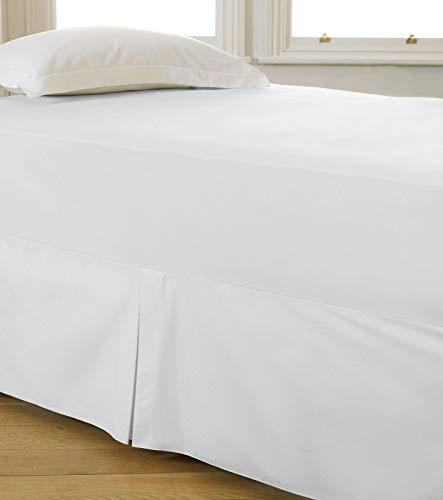 Lenzuolo di lusso con mantovana morbida, 40 cm, traspirante, per letto singolo, matrimoniale, king e letto singolo
