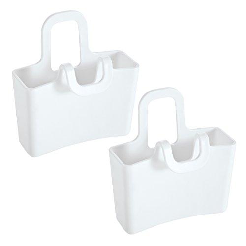 koziol Tassenutensilo Lilli, 2er-Set, Kunststoff, weiß, 3 x 6.2 x 6.6 cm