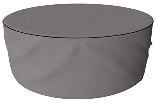 SORARA Housse de Protection Hydrofuge pour Table Ronde | Gris | Ø 260 x 90 cm