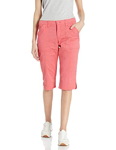 LEE Women's Flex-to-Go Utility Skimmer Capri Pant, Strawberry, 18