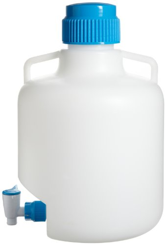 Bel-Art Autoclavable Polypropylene Carboy with Spigot; 10 Liters (2.6 Gallons) (F11846-0025)